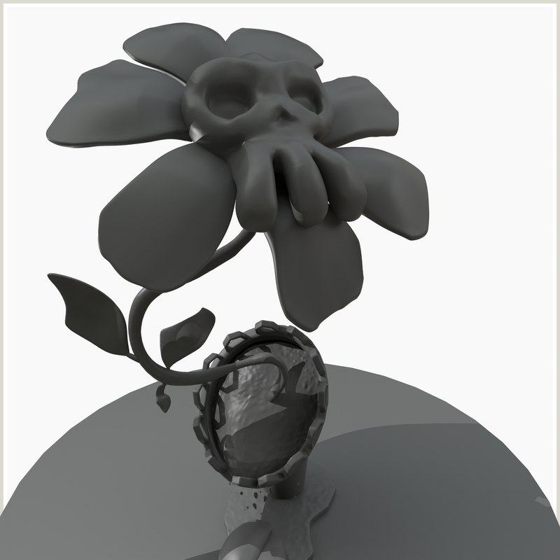 zomby plant poisonous flower 3D model