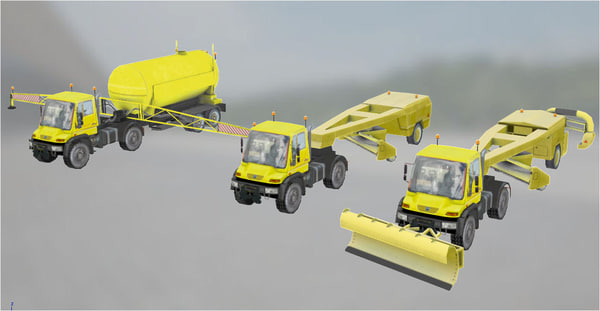 u400 u500 trailers runway 3D