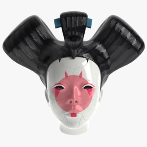 geisha ghost shell 3D model