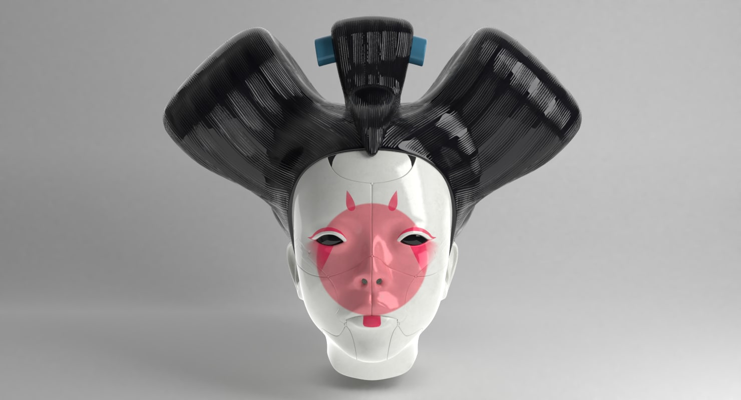Geisha Ghost Shell 3d Model Turbosquid 1239985