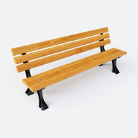 Cast-iron bench