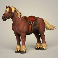 3D muscular horse saddle