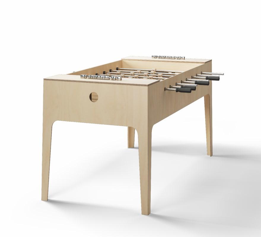 3D model foosball table