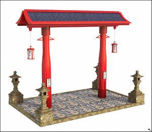 japan japanese structure 3D