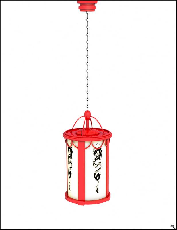 lamp asia asian 3D