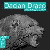 3D mythological dacian draco model