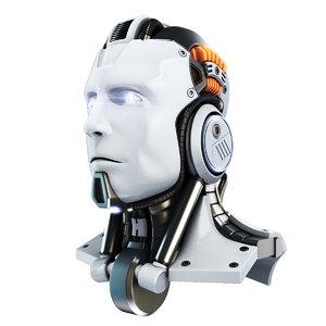 head cyborg 3D model