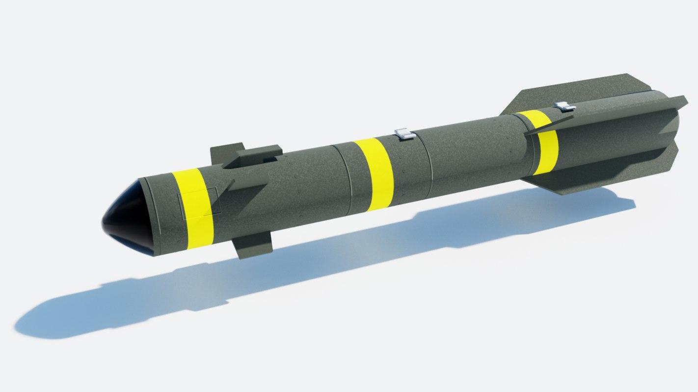 agm-114 hellfire missile 3D model