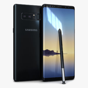 3D model samsung galaxy note8 midnight