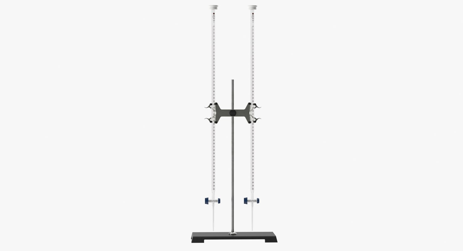 realistic burette stand clamp model