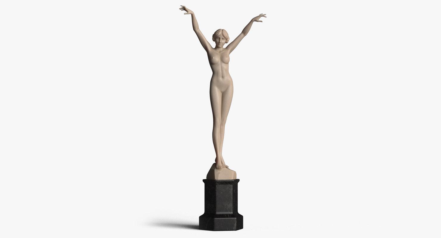 girl statue model