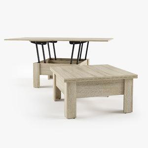 3D coffee table cleo zegen