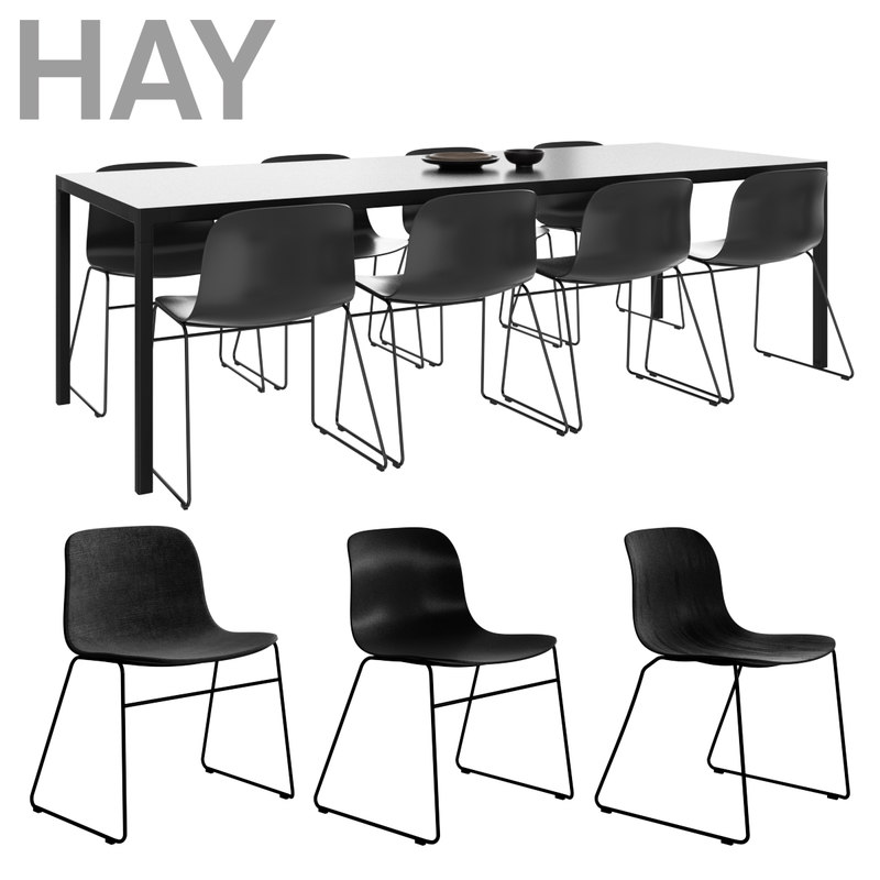 hay dining set 3D