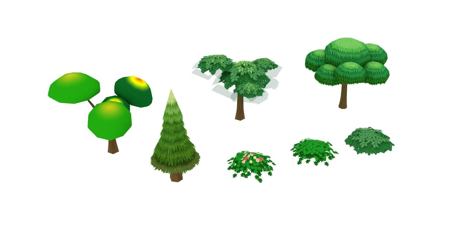 cartoon ready nature 3D model