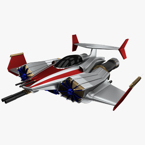 sci-fi jet spacefighter - 3D model