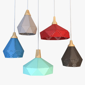 3D loft metal lamp lights