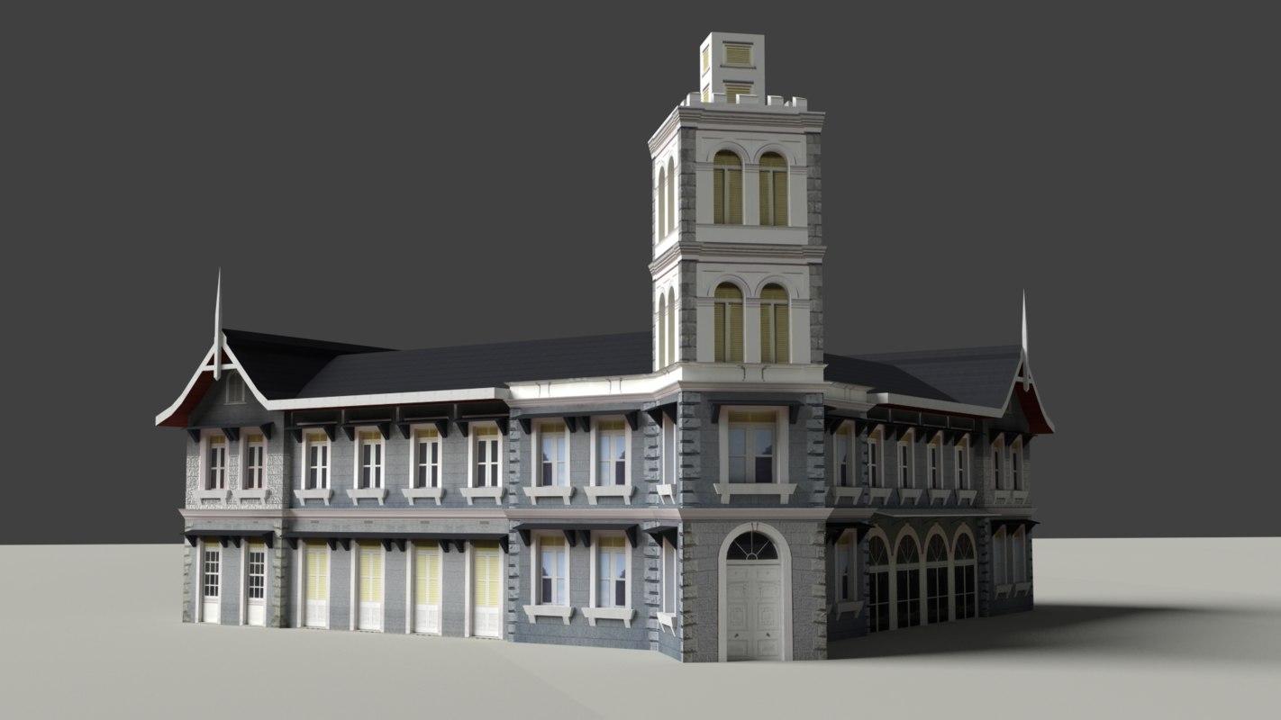 old building model