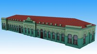 3D railway station luhovicy