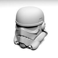 3D model trooper helmet