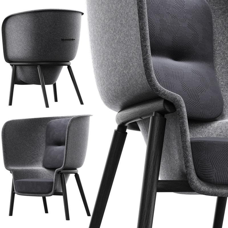 3D pod chair model
