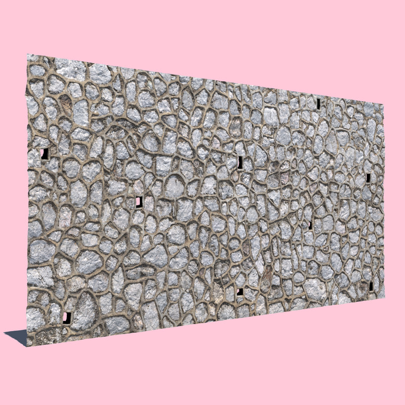3D stone wall