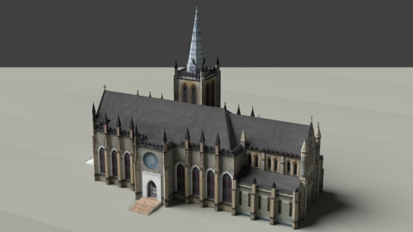 medieval cathedral 3D