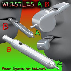 whistles british cop 3D