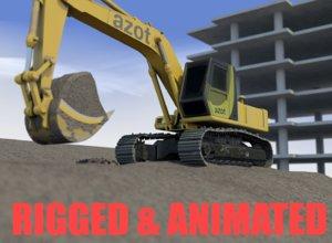 3D scene excavator model