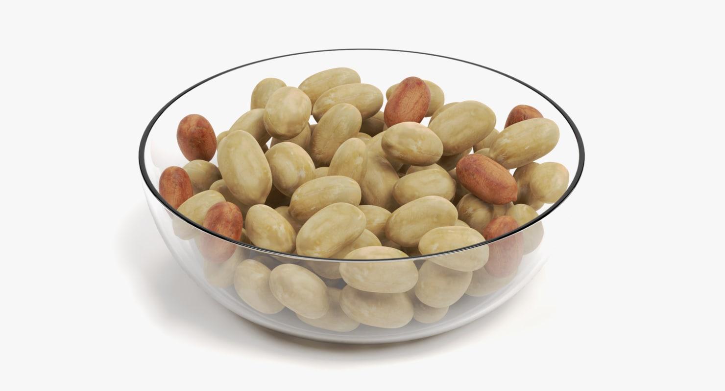 peanuts bowl 3D model