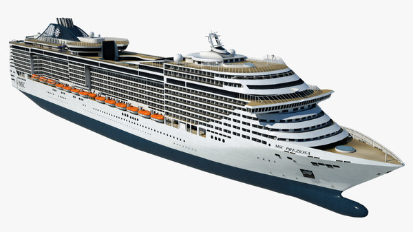 cruise msc preziosa ship 3D