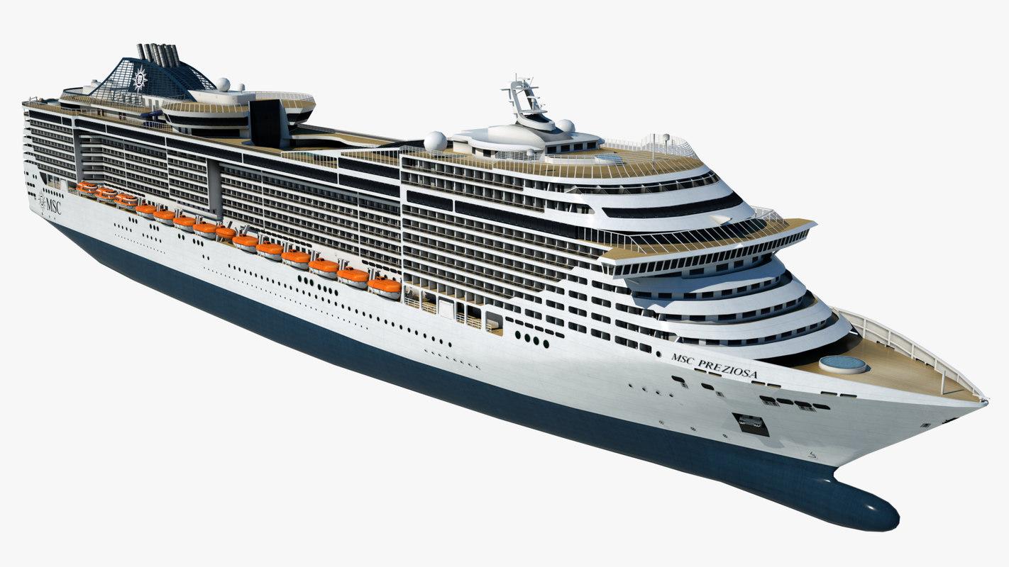 cruise msc preziosa ship 3D