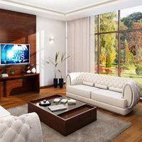 3D model office sitting room