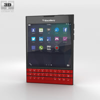 blackberry passport red 3D