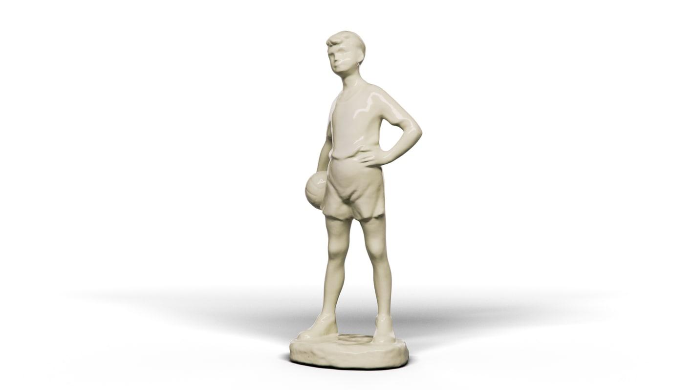 3D boy ball