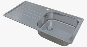 3D sink blanco median xl model