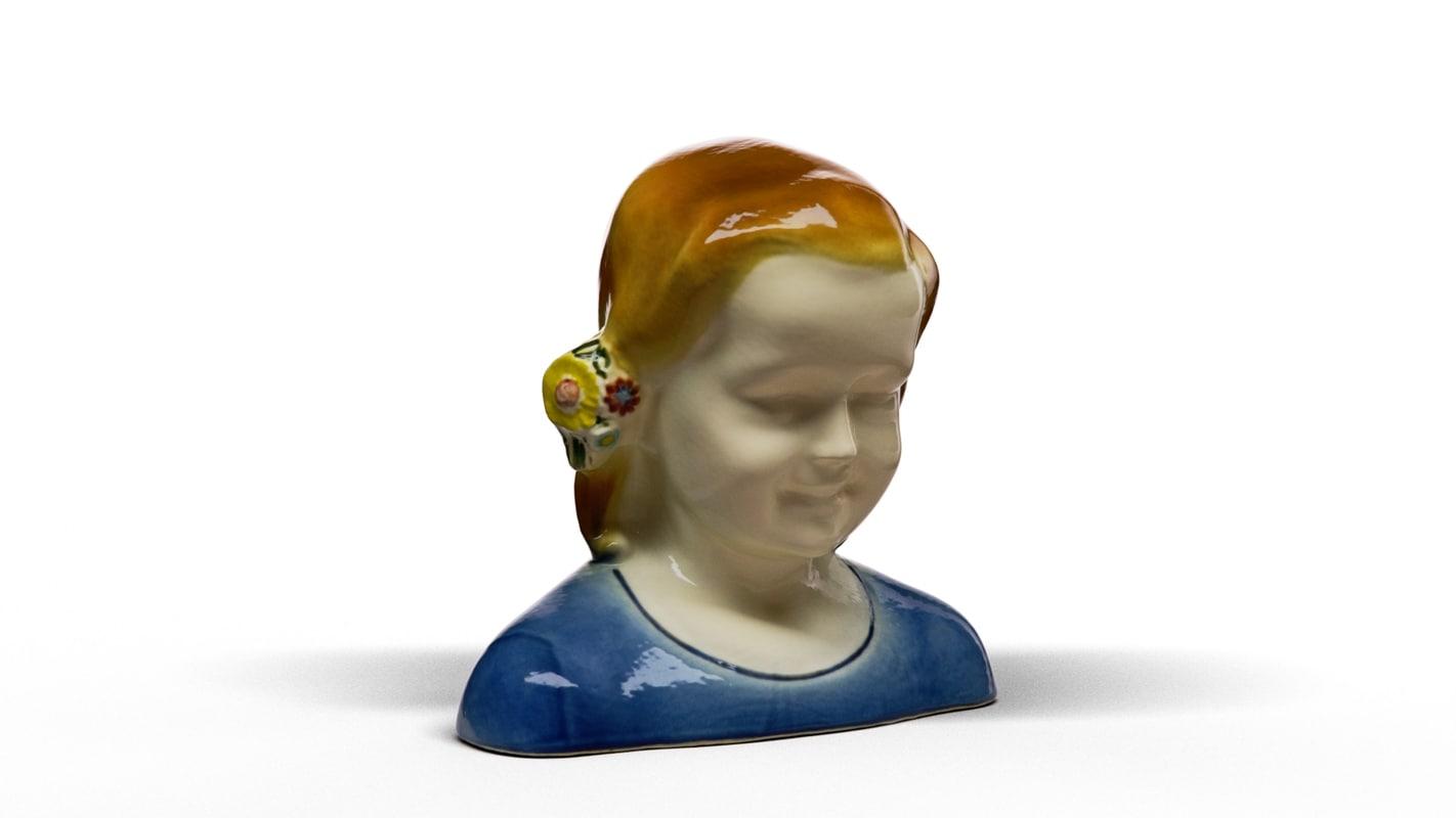 girl bust 3D model