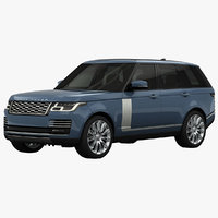 3D model land rover range autobiography