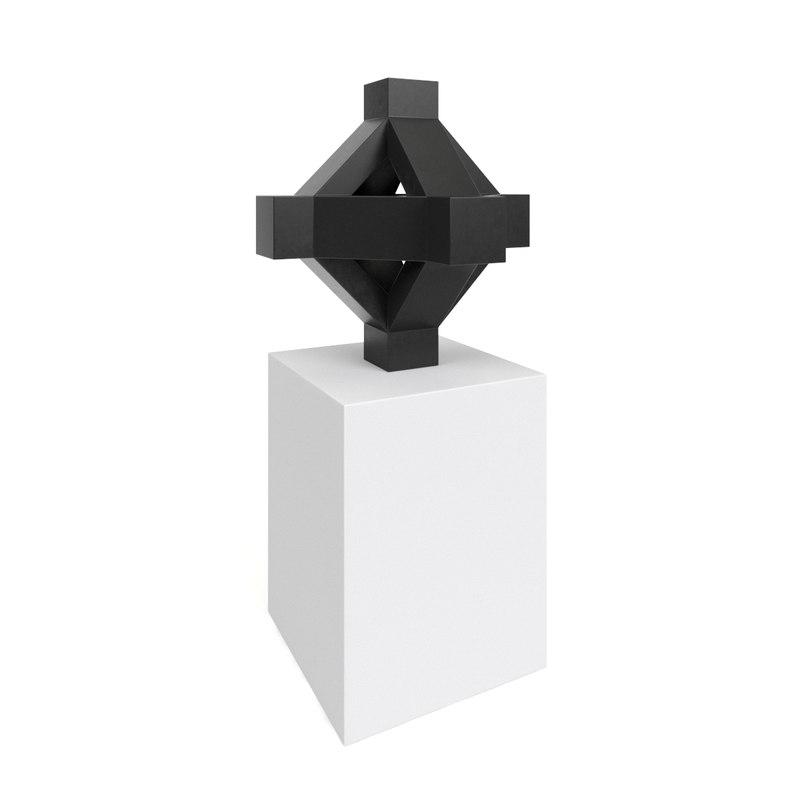 cross sculpture tony smith 3D model