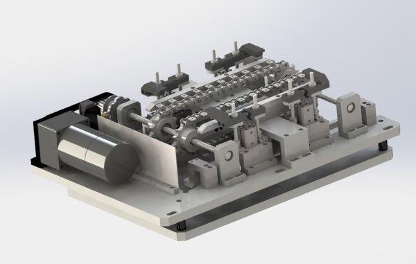 3D model chain convery equidistant sending
