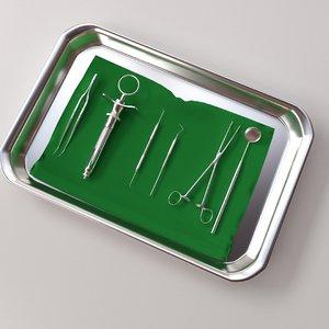 surgery tray set model