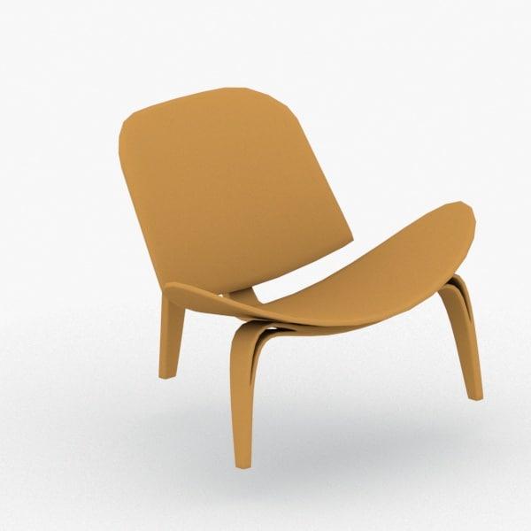 3D model interior - chair