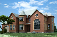 2 story house plans 3D model