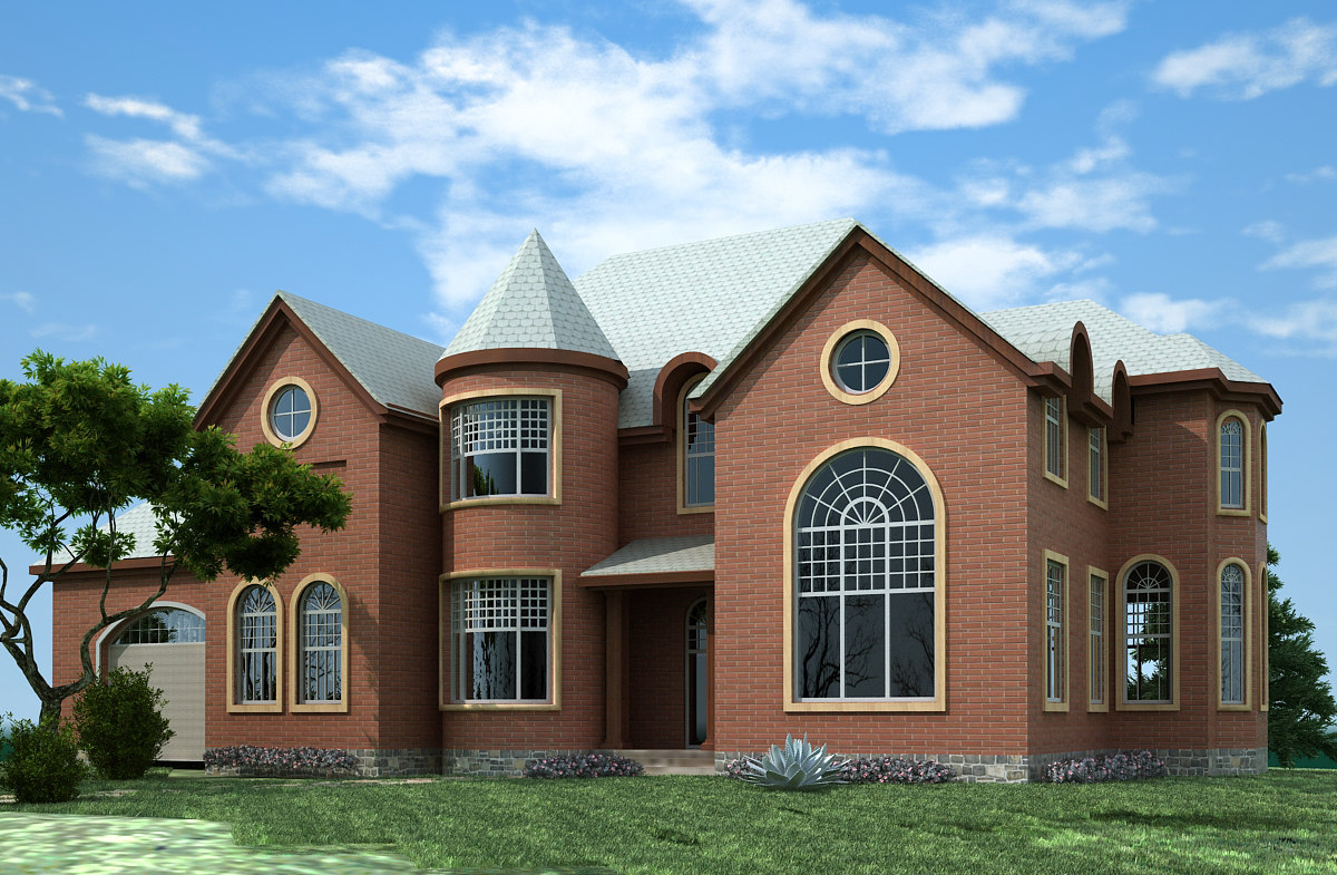 2 Story House Plans 3d Max File House Plans