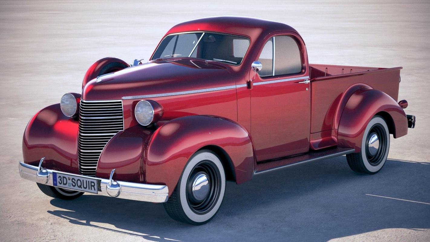 3D studebaker coupe express model