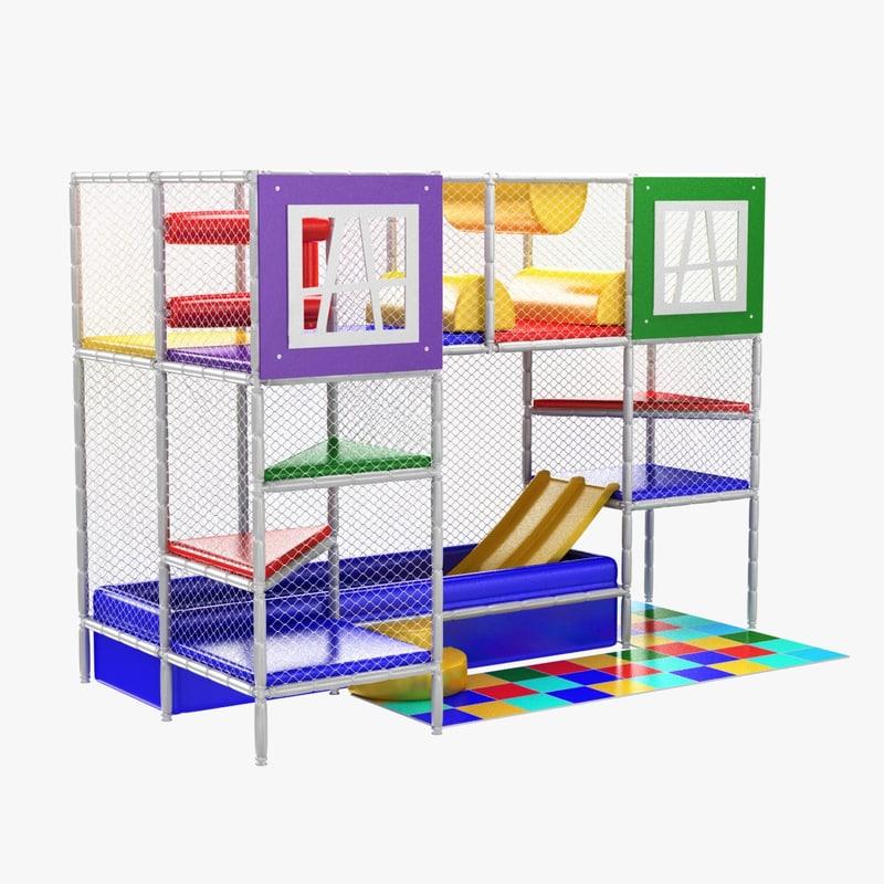 3D model playground kids indoor