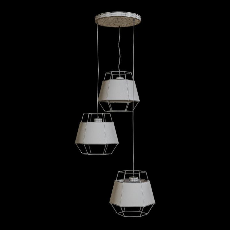 3D pendant light tk cristal