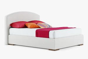 3D queen size bedclothes model