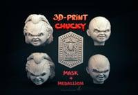 Chucky mask head + medallion