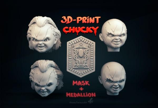 head medallion chucky 3D model