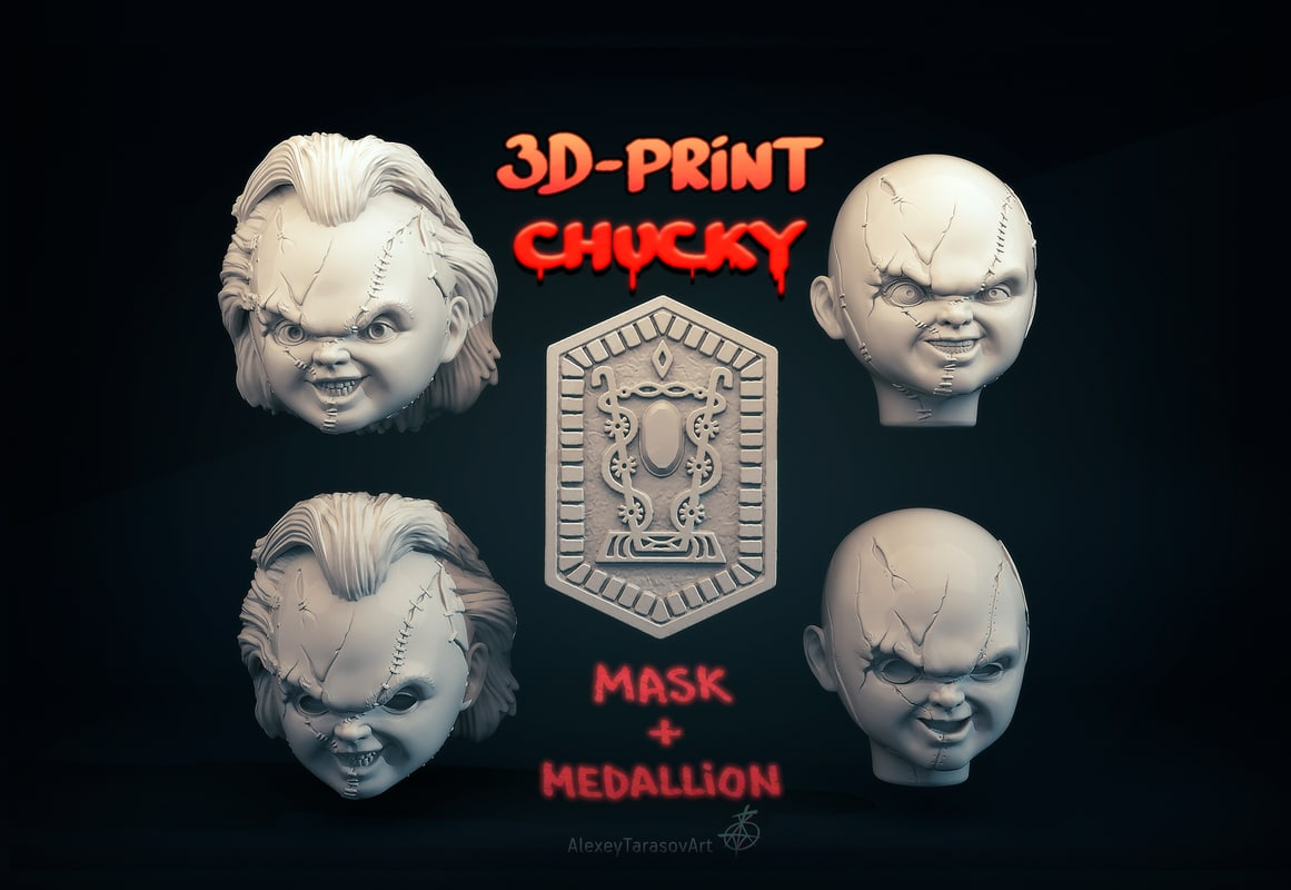 head medallion chucky 3D model